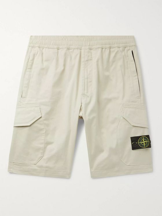 Stone Island Cotton-Blend Twill Cargo Shorts