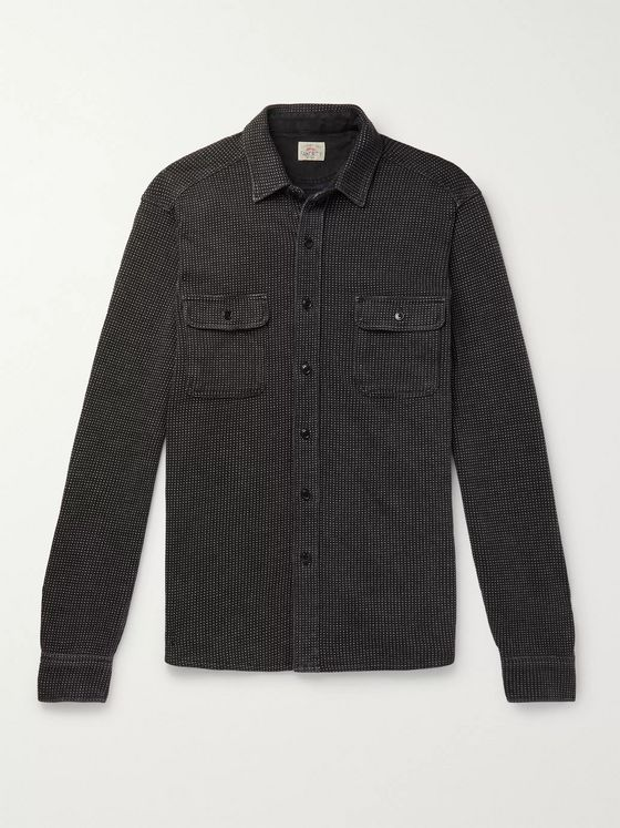 Faherty Cotton-Dobby Overshirt