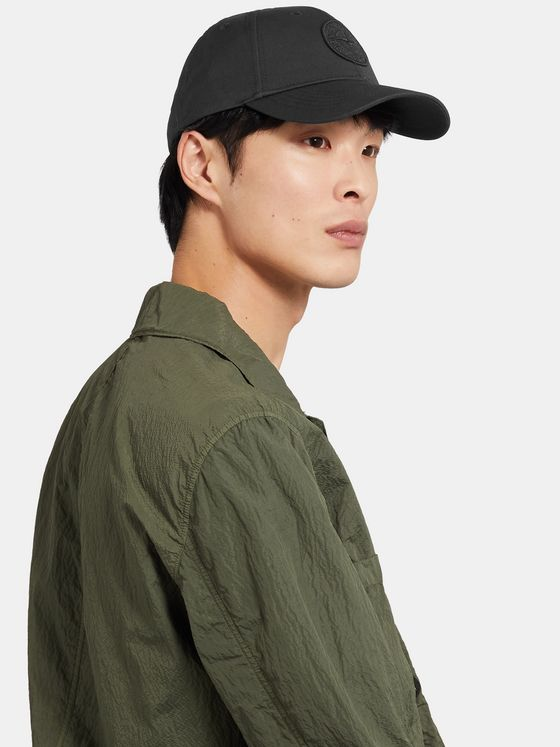 Stone Island Logo-Embroidered Cotton-Twill Baseball Cap