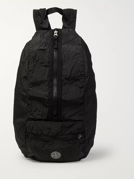 Stone Island Packable Garment-Dyed Nylon Metal Backpack
