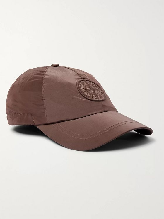 Stone Island Logo-Embroidered Shell Baseball Cap