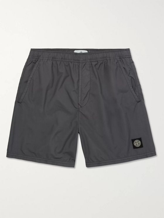 Stone Island Mid-Length Garment-Dyed Swim Shorts