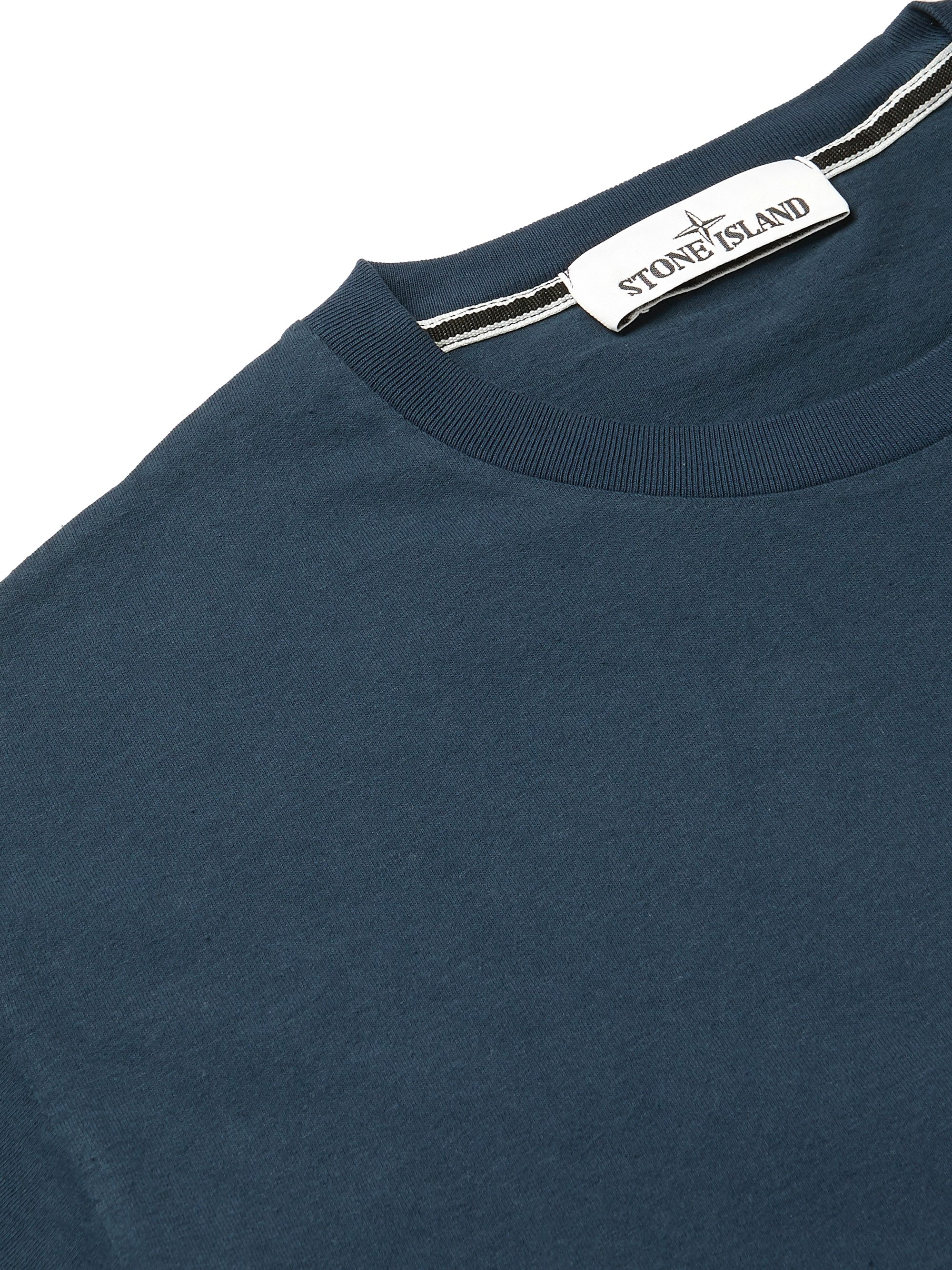 Stone Island Slim-Fit Printed Cotton-Jersey T-Shirt