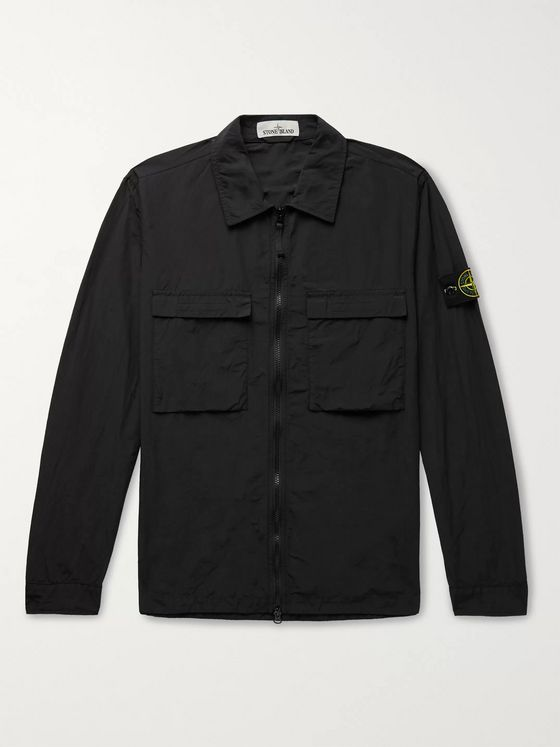 Stone Island Garment-Dyed Naslan Light Watro Overshirt
