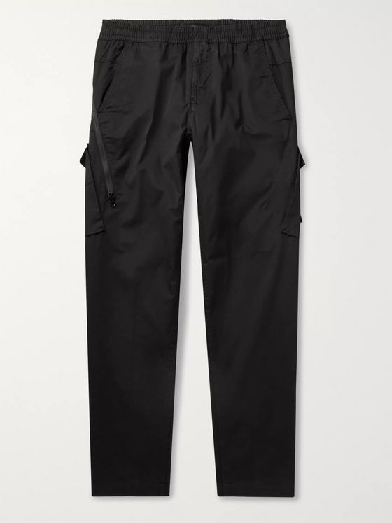 Stone Island Ghost Tapered Garment-Dyed Stretch-Cotton Twill Cargo Trousers