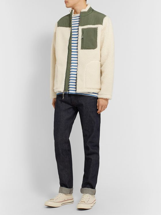 Faherty Shell-Panelled Fleece Jacket