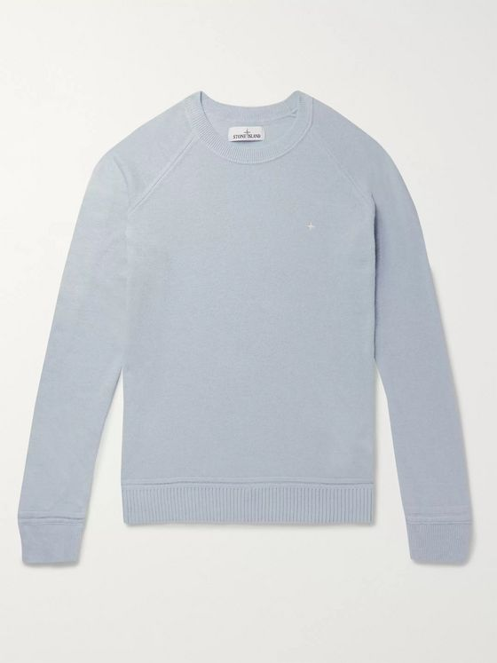 Stone Island Logo-Embroidered Knitted Sweater