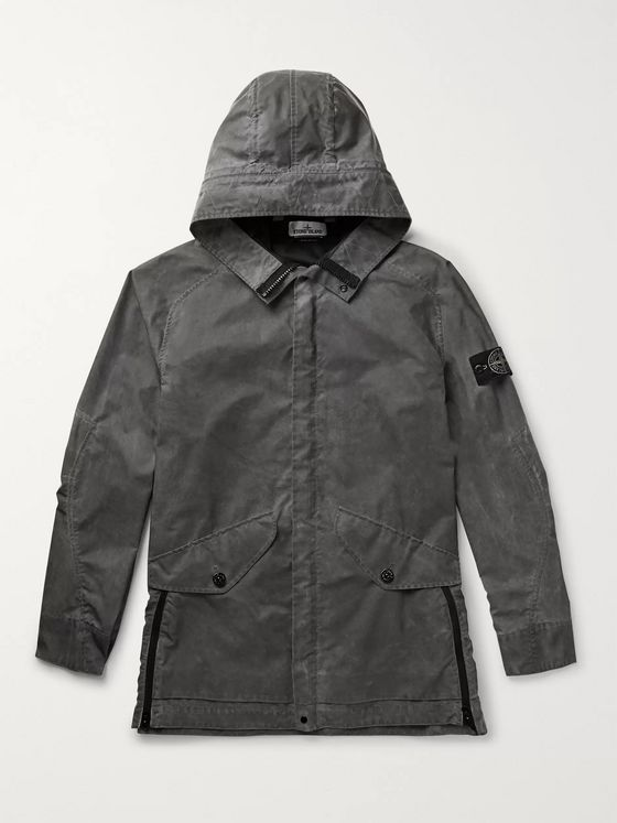 Stone Island Reflective Nylon-Tela Hooded Jacket