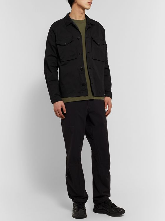 Stone Island Cotton-Blend Twill Overshirt