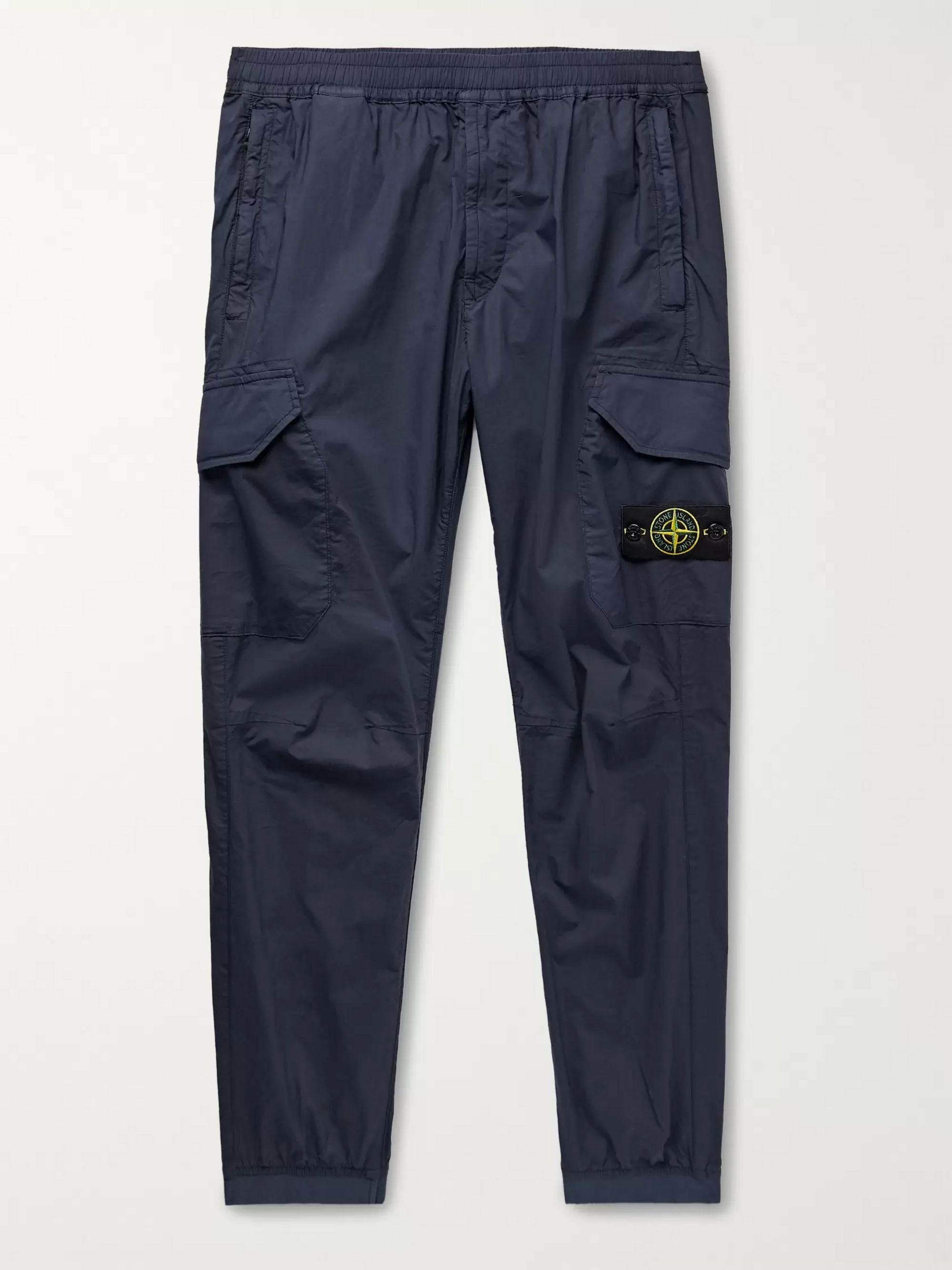 Stone Island Garment-Dyed Stretch-Cotton Cargo Trousers