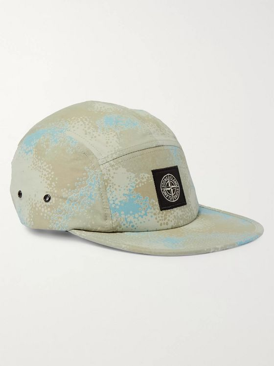 Stone Island Camouflage-Print Cotton-Canvas Baseball Cap