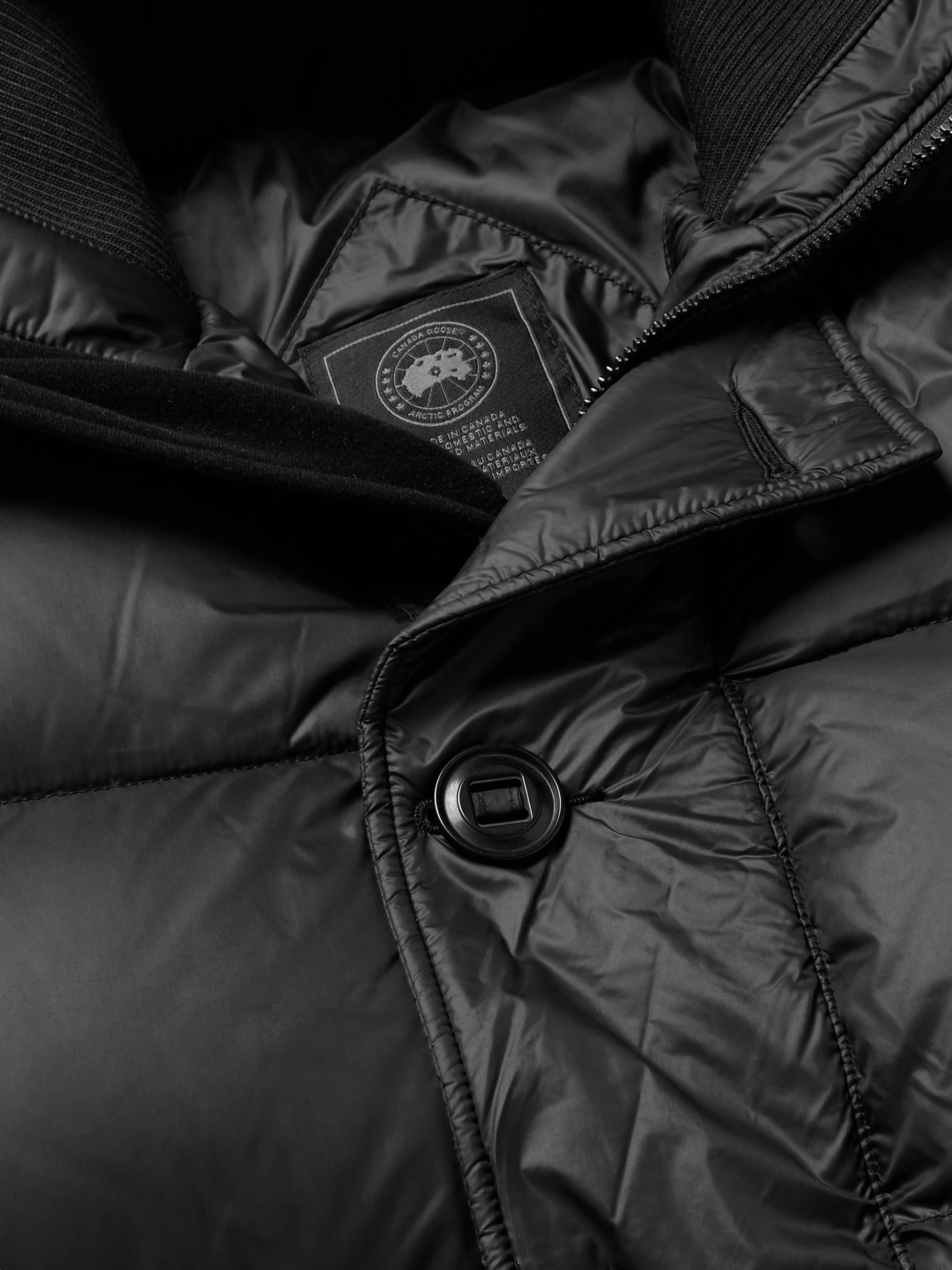 Canada Goose Ventoux Quilted Nylon Hooded Down Jacket