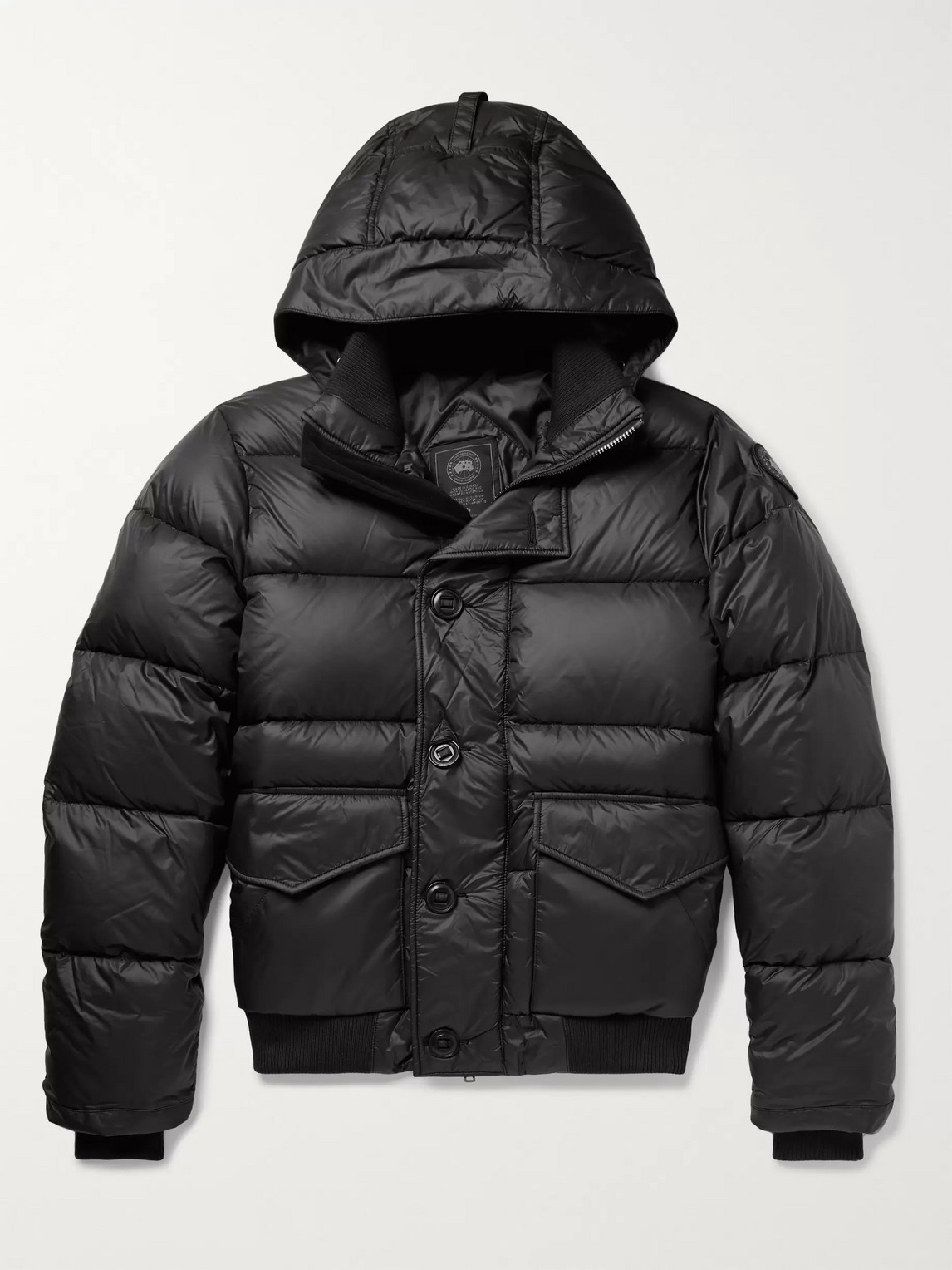 canada goose - ventoux quilted nylon hooded down jacket - men - black