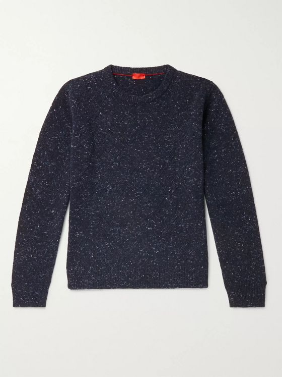 Isaia Donegal Cashmere-Blend Sweater