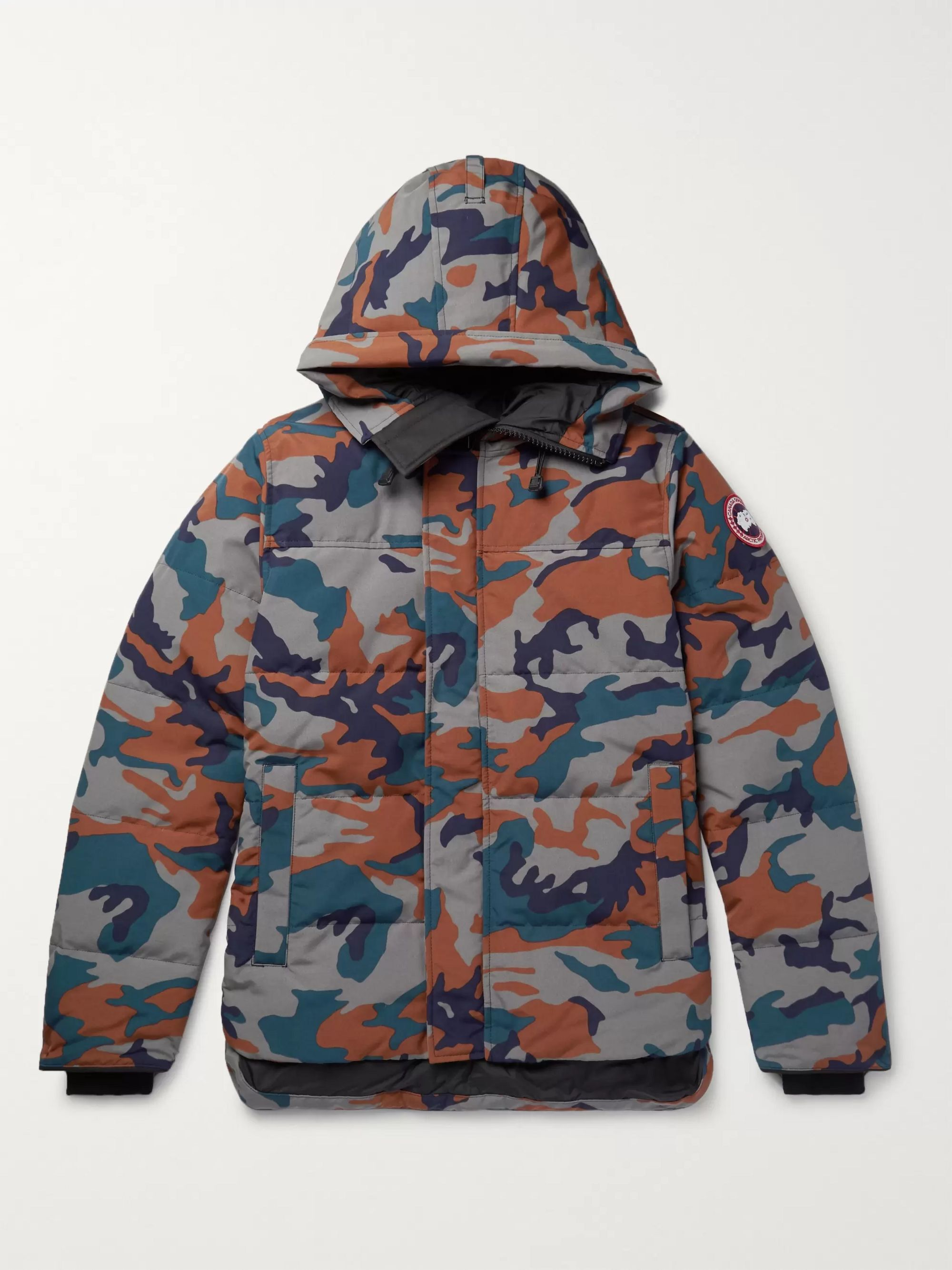 Canada Goose MacMillan Slim-Fit Camouflage-Print Quilted Arctic Tech Hooded Down Parka