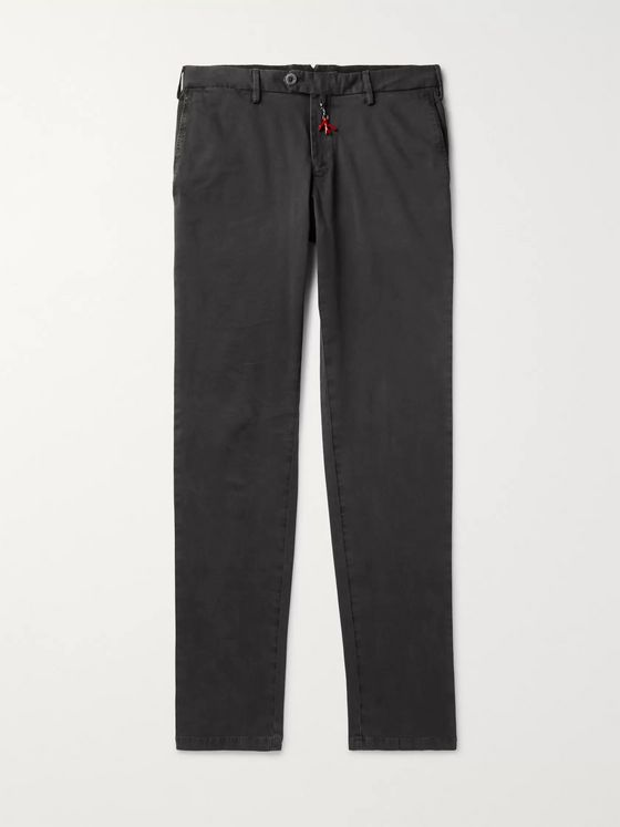 Isaia Cotton-Blend Gabardine Chinos