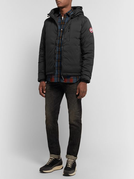 Canada Goose Lodge Slim-Fit Nylon-Ripstop Hooded Down Jacket