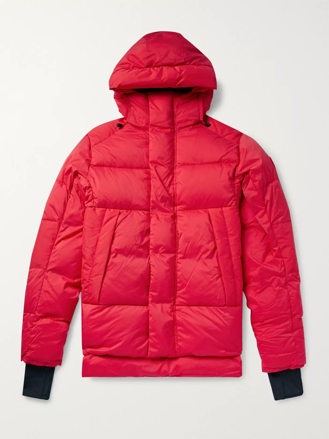 canada goose - armstrong packable quilted nylon-ripstop hooded down jacket - men - red