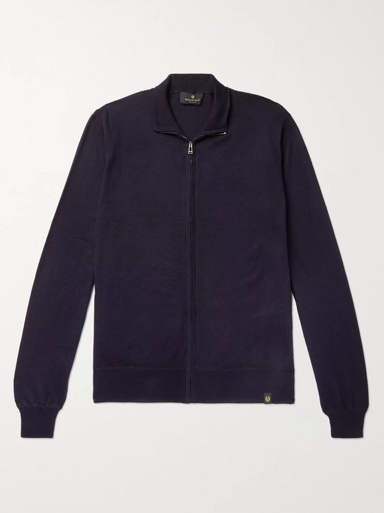 Belstaff Slim-Fit Cotton and Cashmere-Blend Zip-Up Cardigan