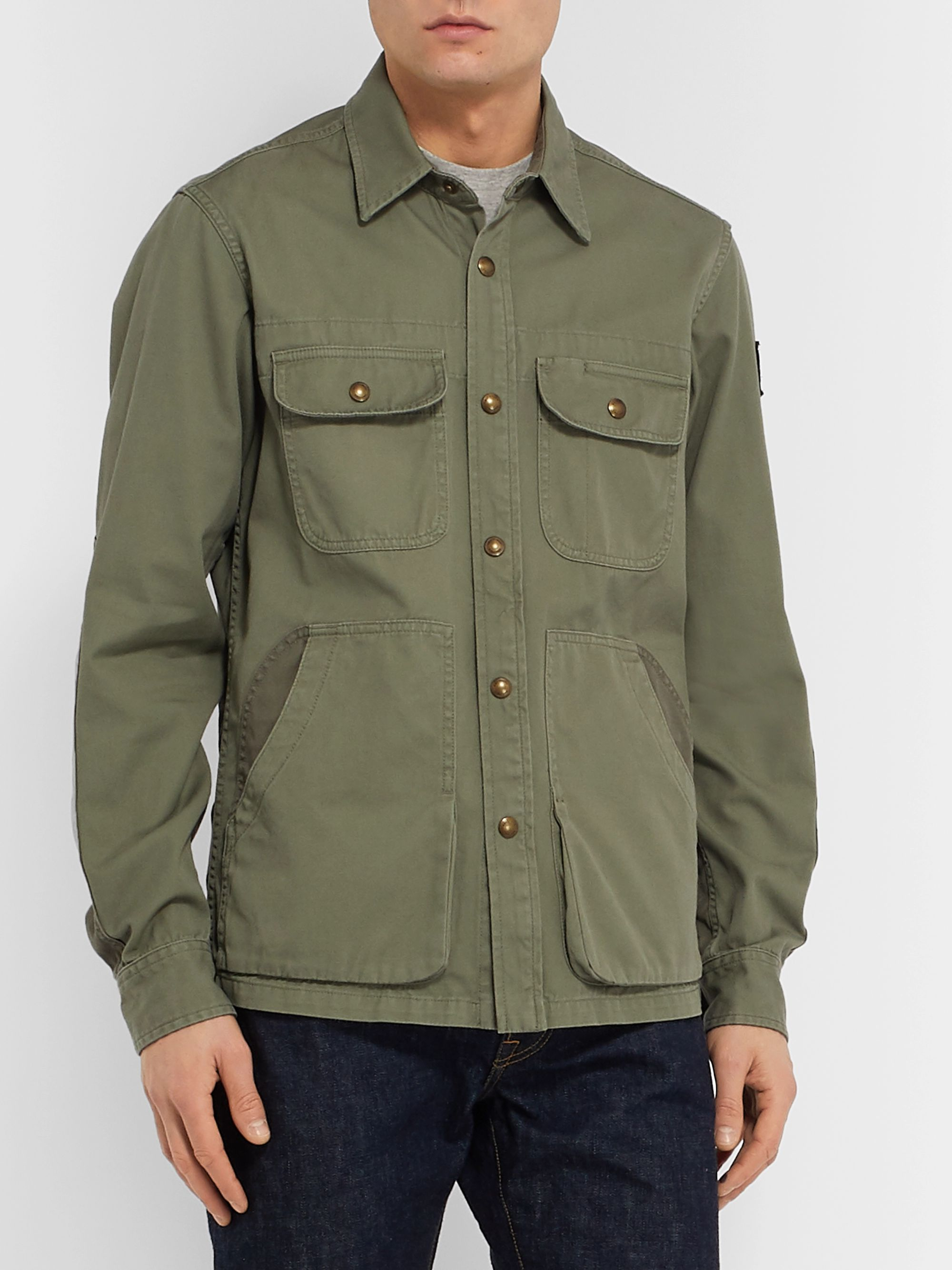 Belstaff Arbor Cotton-Twill Shirt Jacket