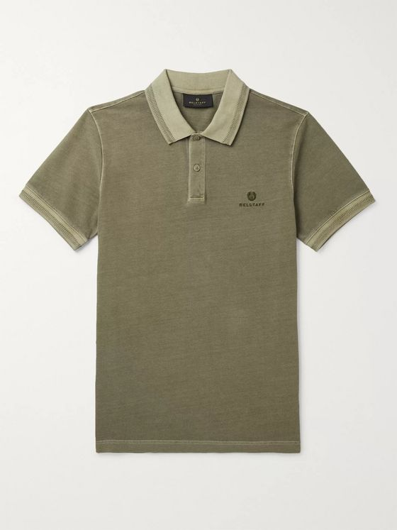 Belstaff Slim-Fit Logo-Embroidered Cotton-Piqué Polo Shirt