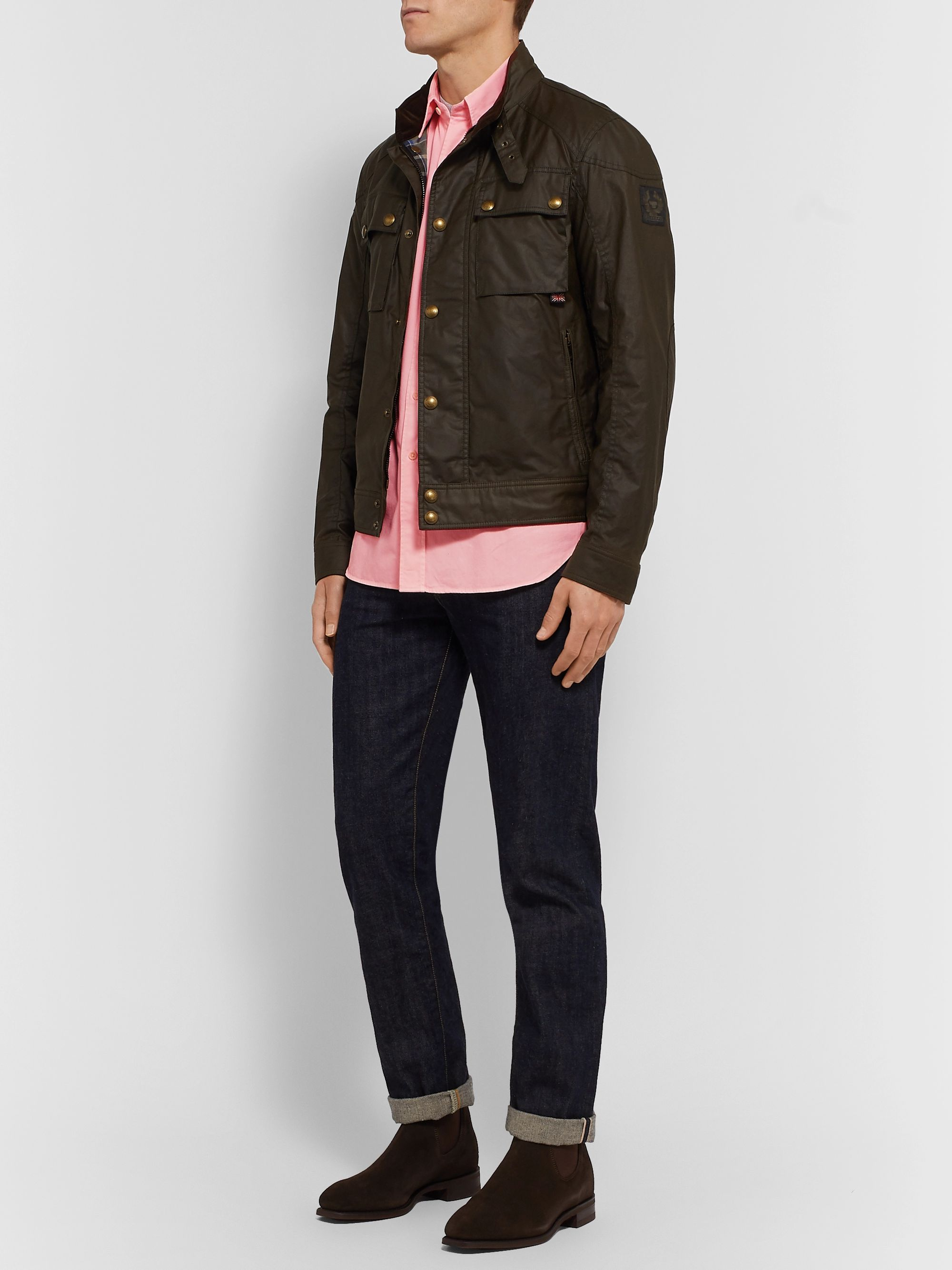 Belstaff Pitch Logo-Appliquéd Garment-Dyed Cotton Oxford Shirt
