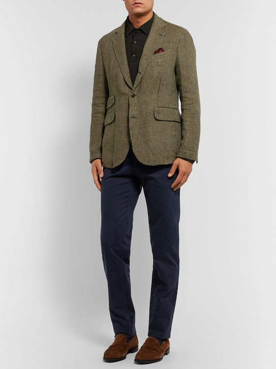 Isaia Slim-Fit Cotton-Blend Gabardine Chinos