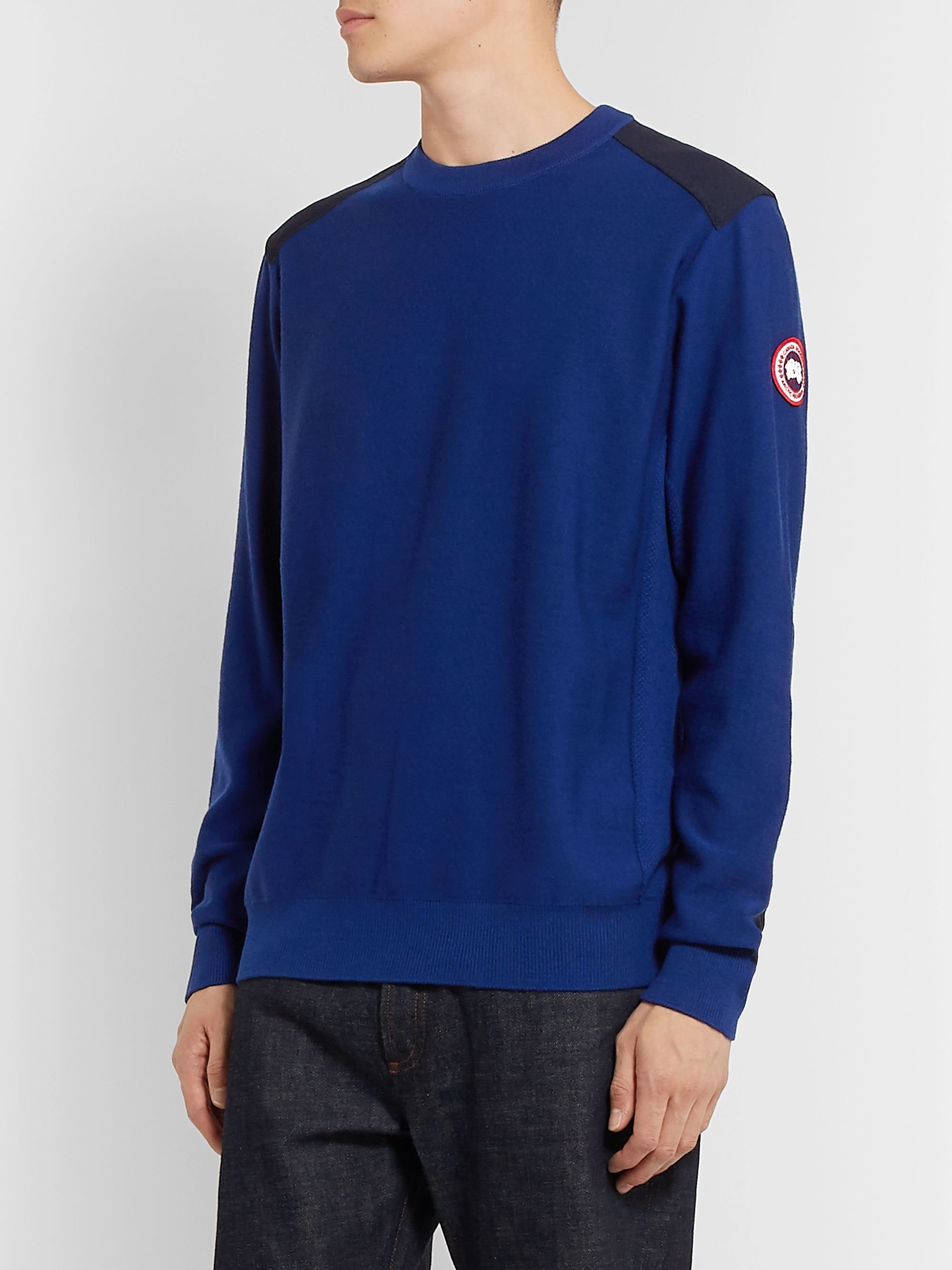Canada Goose Dartmouth CORDURA-Panelled Merino Wool Sweater