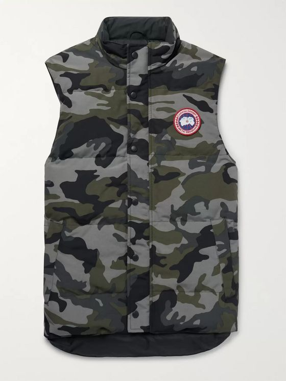 Canada Goose Garson Slim-Fit Camouflage-Print Quilted Arctic Tech Down Gilet
