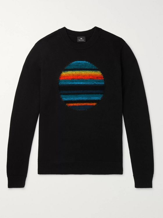 PS Paul Smith Intarsia Wool-Blend Sweater