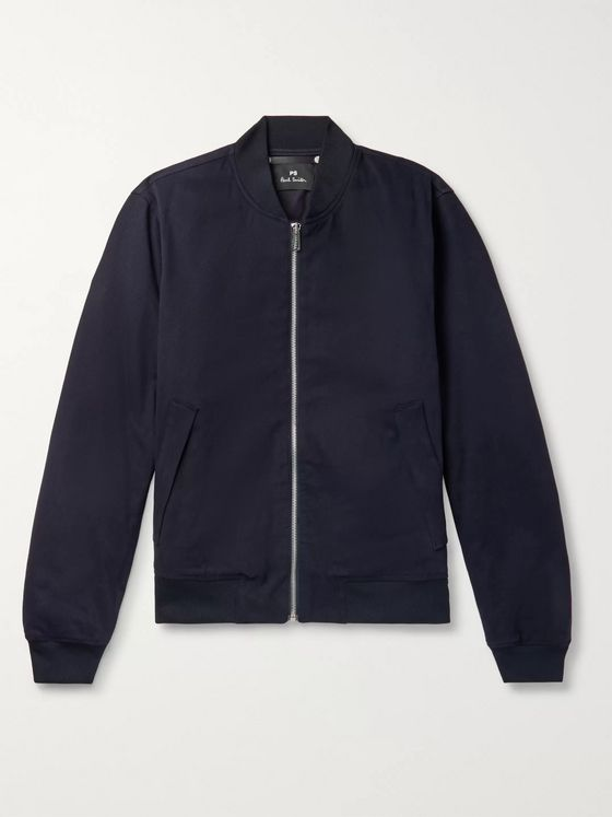 PS Paul Smith Cotton-Blend Twill Bomber Jacket