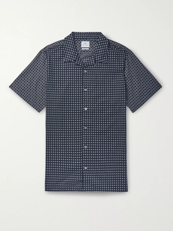 PS Paul Smith Printed Camp-Collar Cotton Shirt