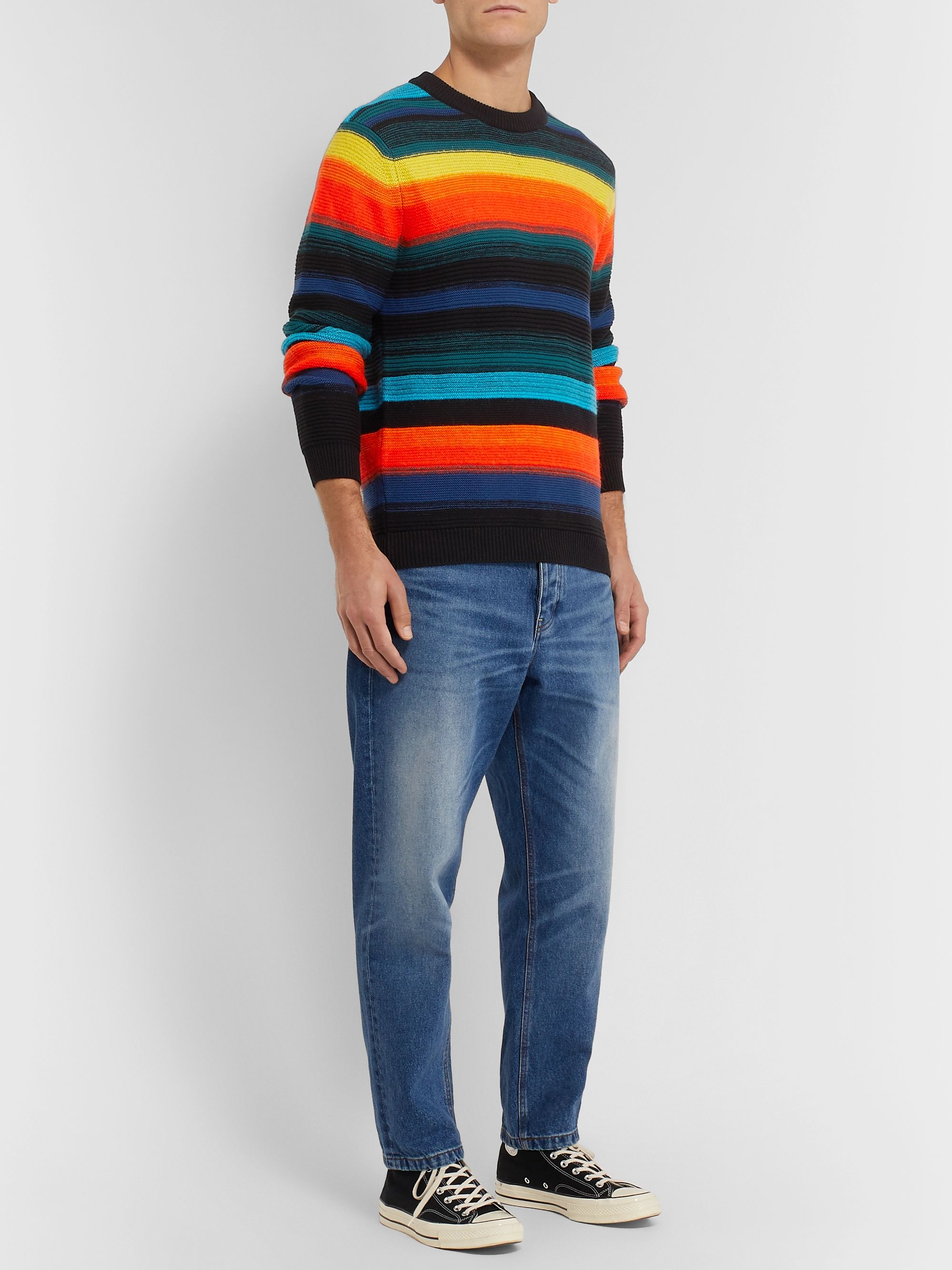 PS Paul Smith Striped Knitted Sweater