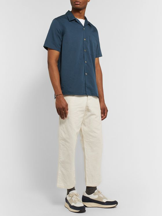 PS Paul Smith Camp-Collar Cotton and Lyocell-Blend Shirt