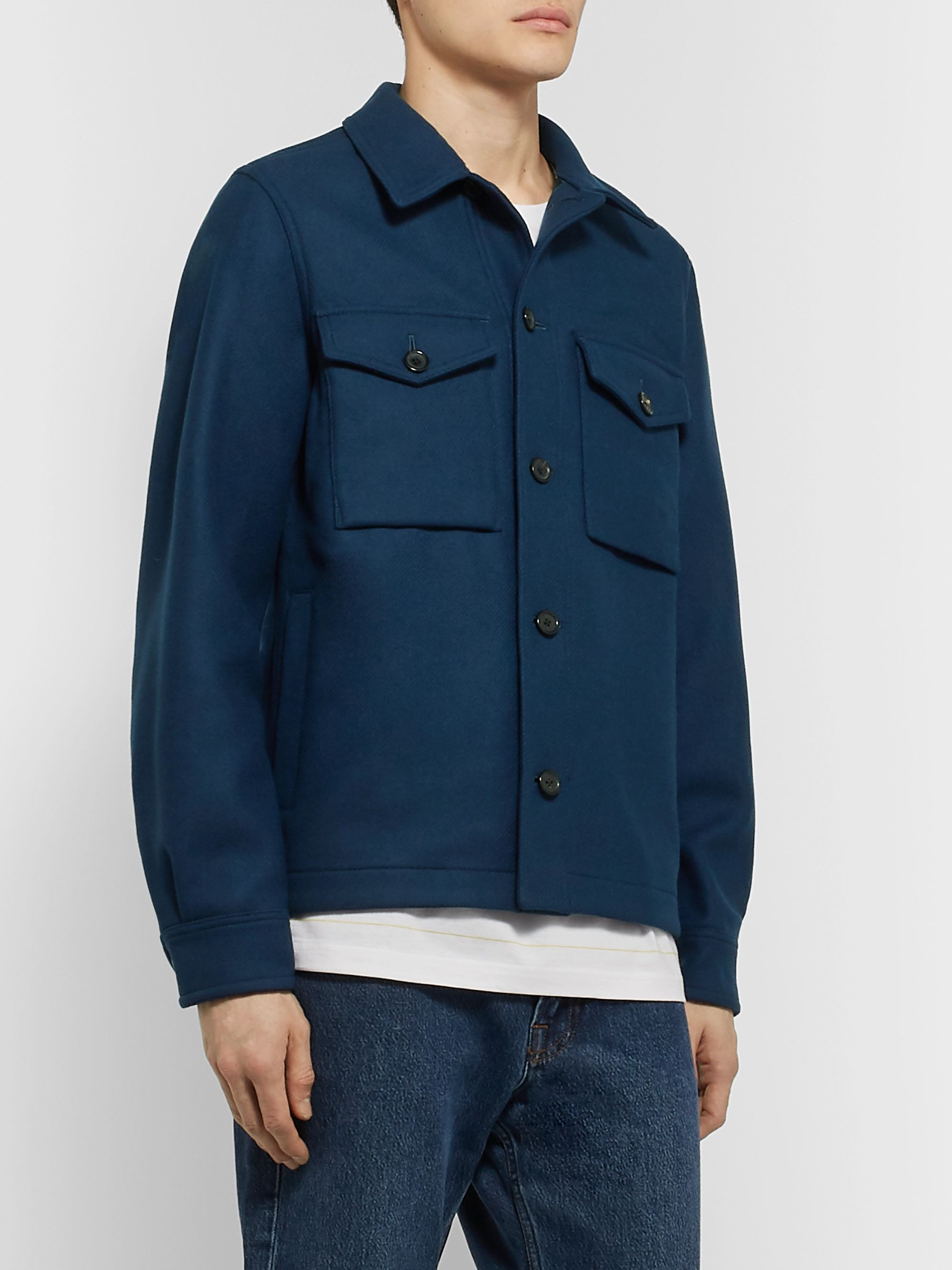 PS Paul Smith Wool-Blend Overshirt