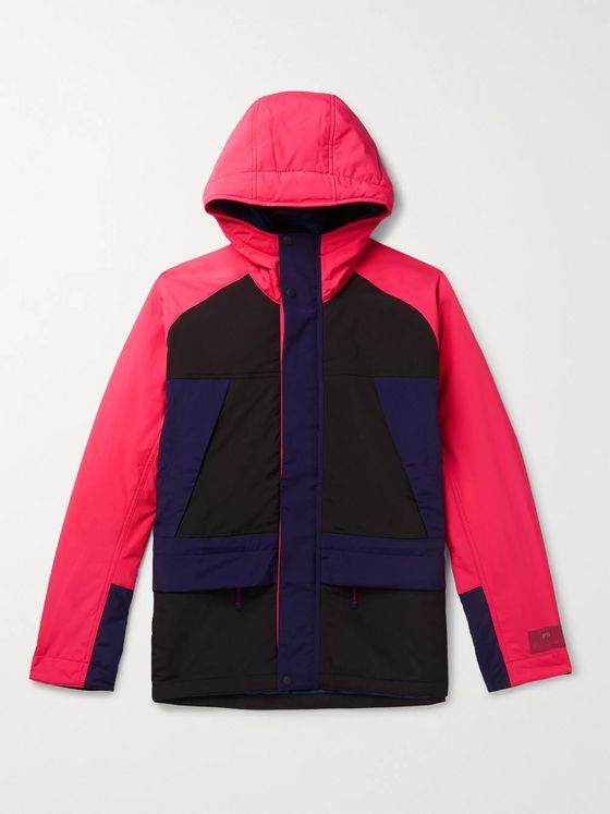 PS Paul Smith Colour-Block Shell Hooded Parka
