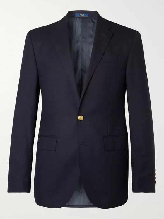 Polo Ralph Lauren Navy Slim-Fit Unstructured Linen-Blend Blazer