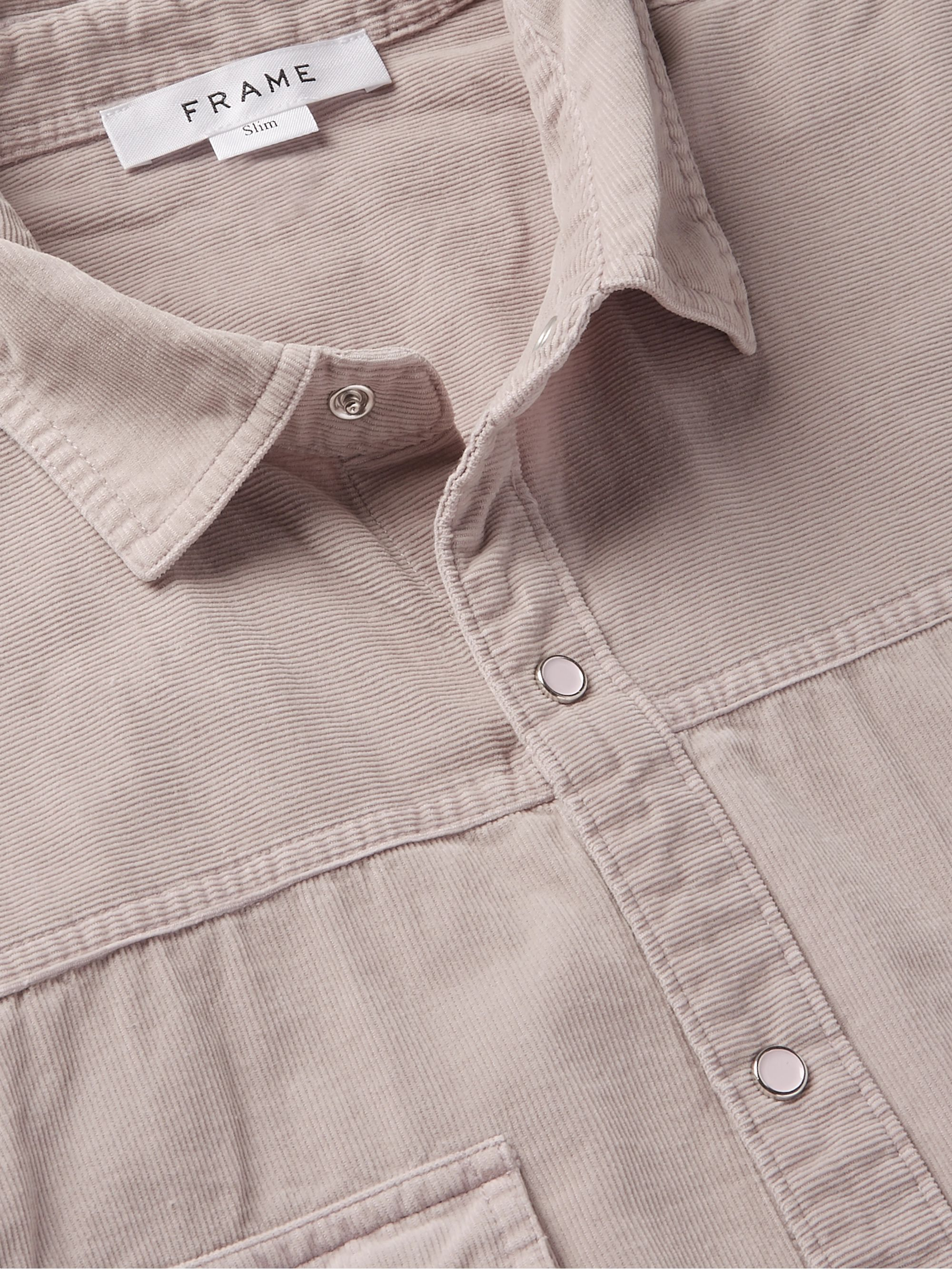FRAME Slim-Fit Cotton-Corduroy Shirt