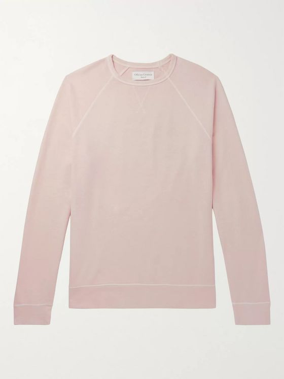 Officine Generale Clement Pigment-Dyed Loopback Cotton-Jersey Sweatshirt
