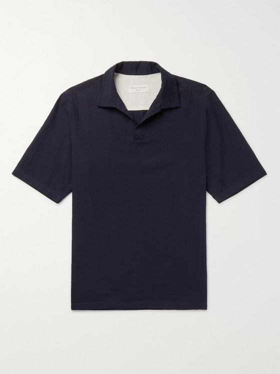 Officine Generale Yann Cotton-Seersucker Shirt