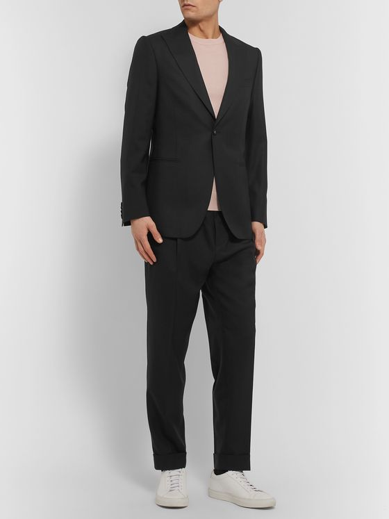 Officine Generale Black Marcello Wool Suit Jacket