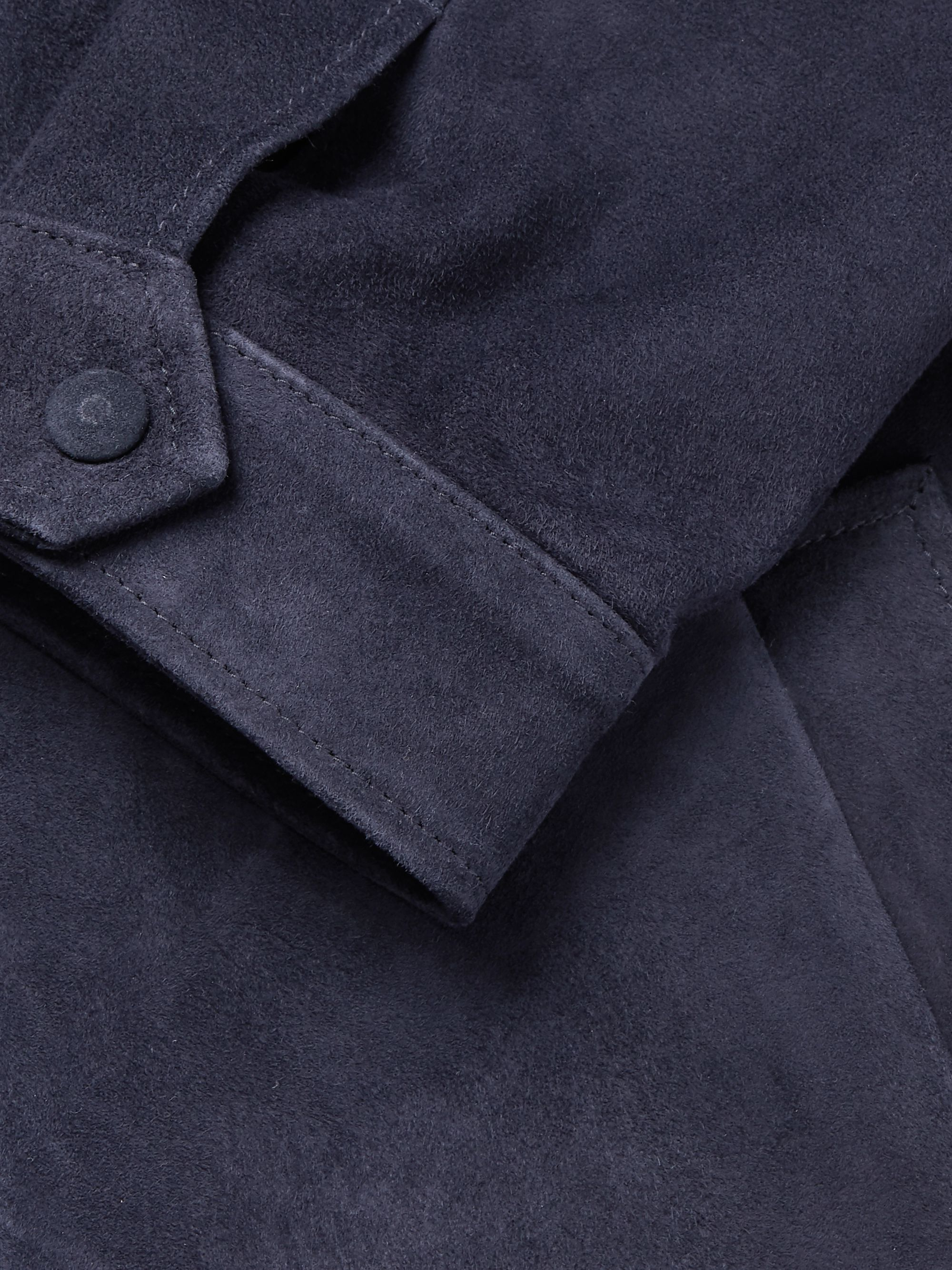 Officine Generale Suede Blouson Jacket