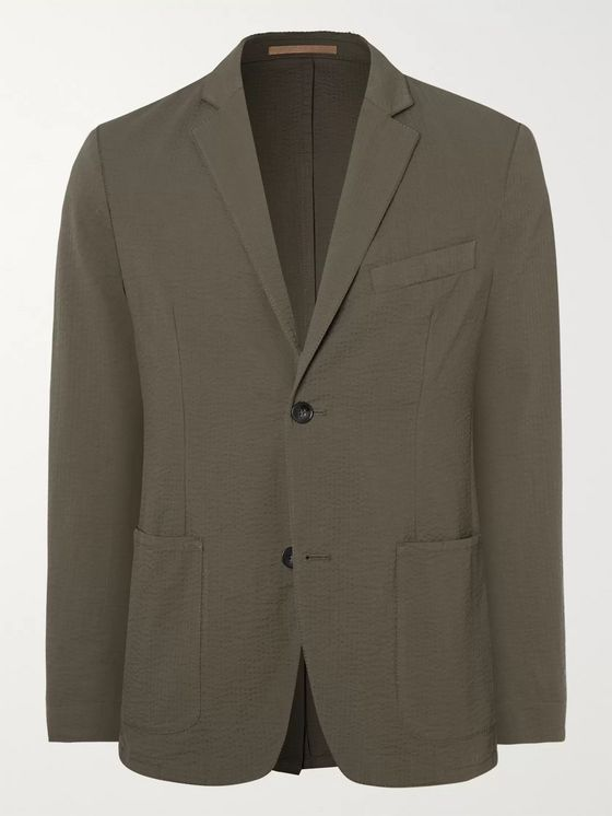 Officine Generale Cotton-Seersucker Suit Jacket