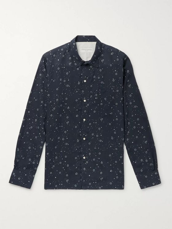 Officine Generale Printed Lyocell Shirt