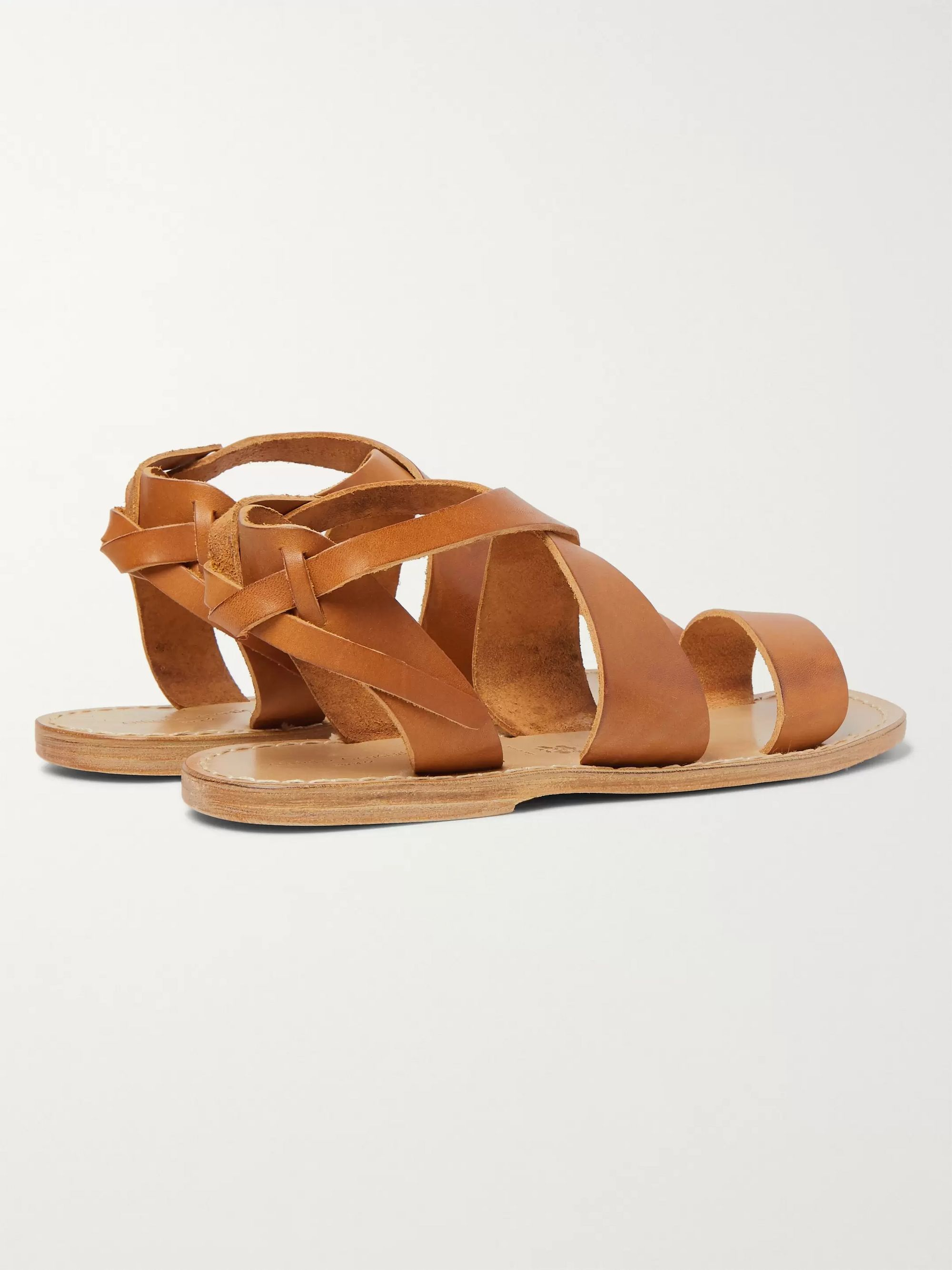 Officine Generale Positano Leather Sandals