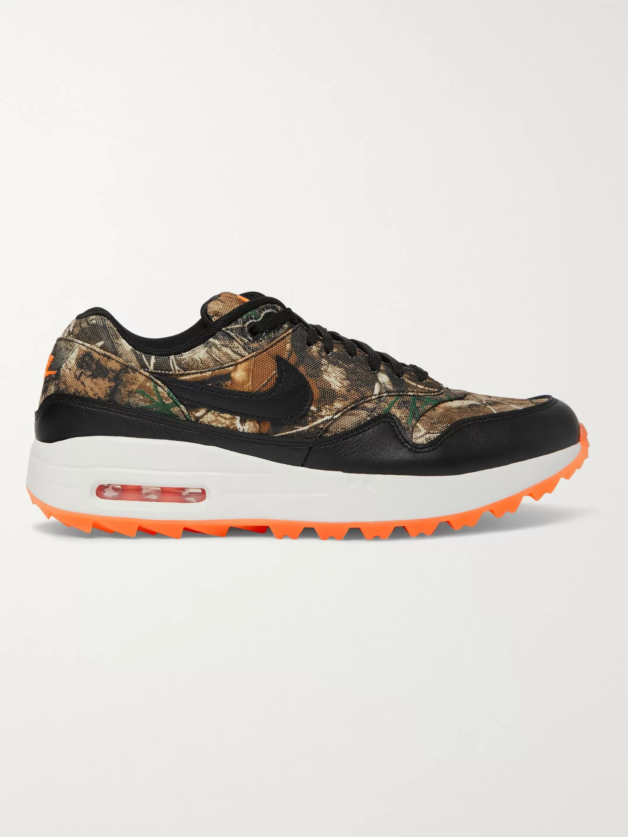 cheap sale shop the best attitude Air Max 1 Golf Realtree Camouflage Faux Leather-Trimmed Mesh Sneakers