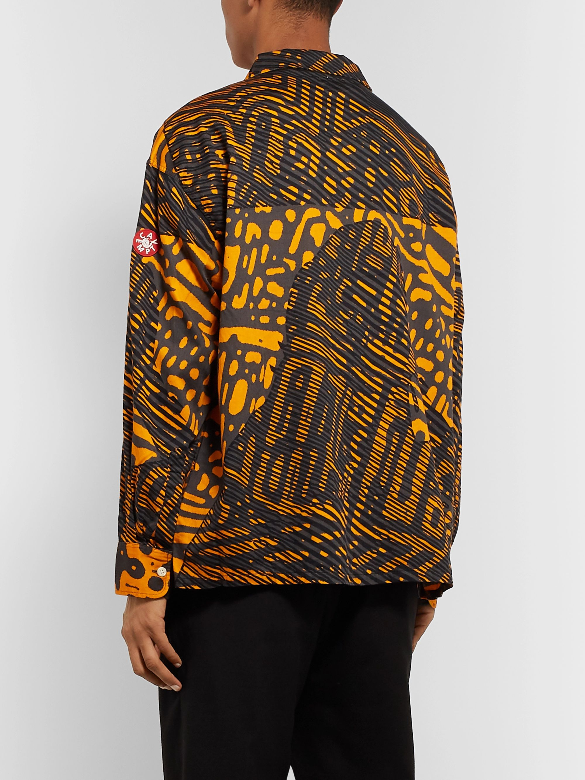Cav Empt Camp-Collar Printed Cotton Shirt