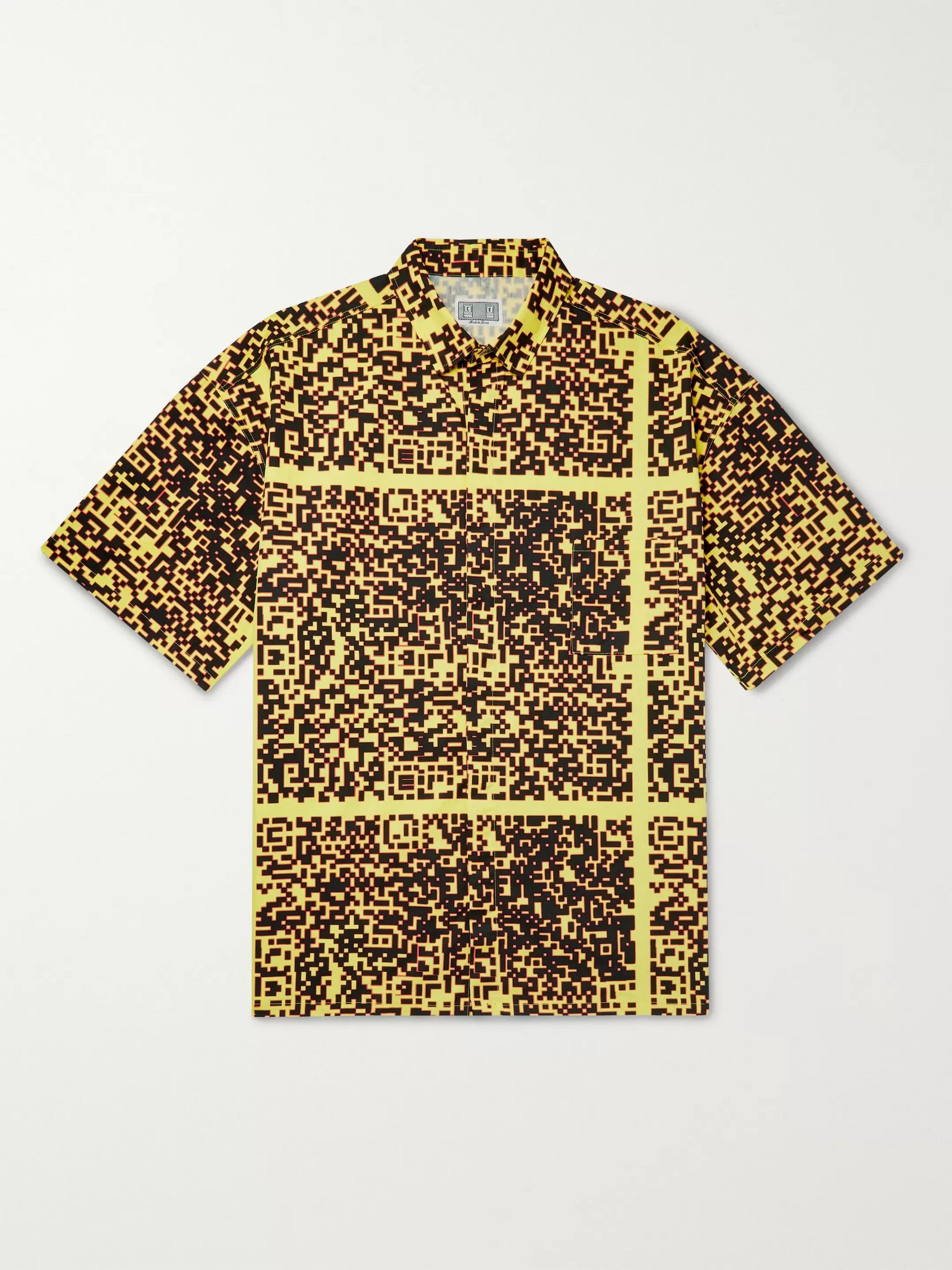 Cav Empt Noise Oversized Shell-Appliquéd Printed Cotton Shirt