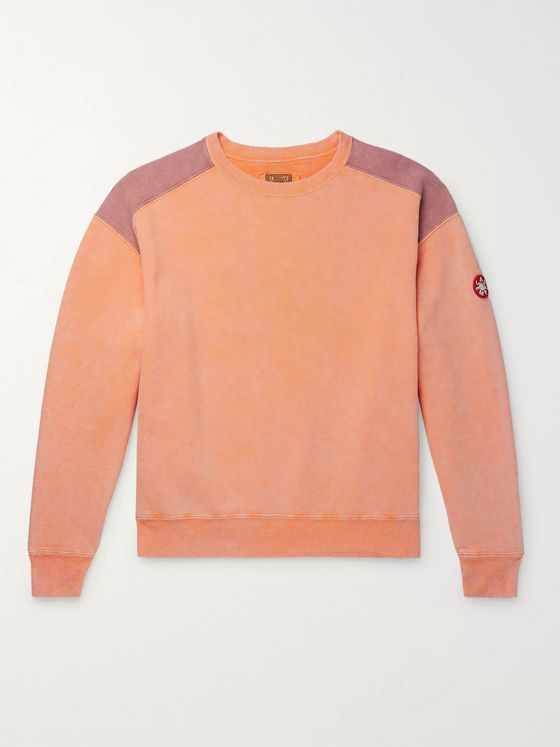 Cav Empt Panelled Loopback Cotton-Jersey Sweatshirt
