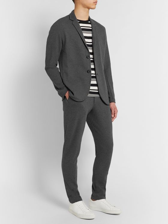 Hamilton and Hare Slim-Fit Waffle-Knit Cotton Suit Trousers